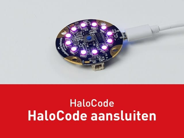 HaloCode aansluiten via USB