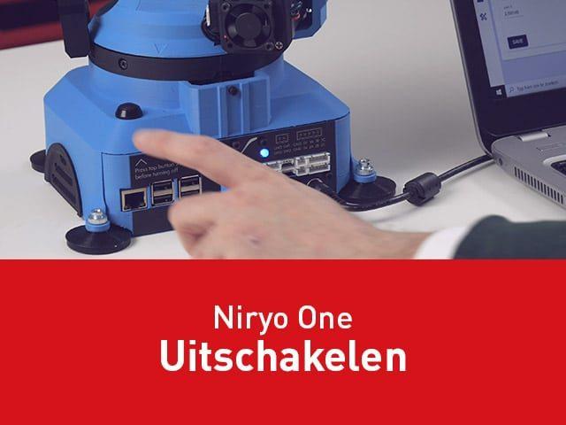Niryo One uitzetten