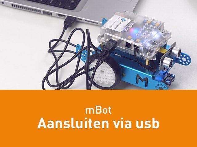 mBot aansluiten via USB