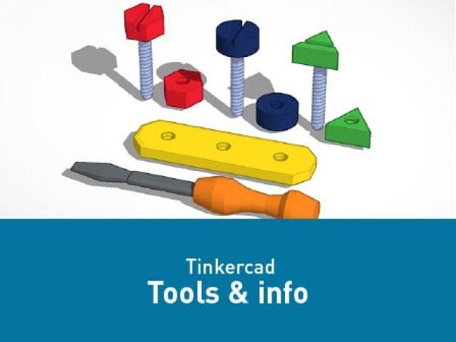 Tinkercad – Tools en informatie