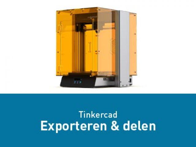 Tinkercad – Exporteren